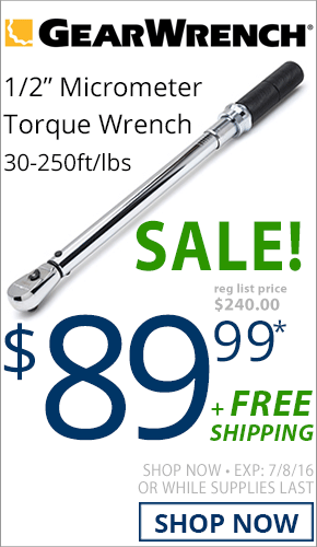 GearWrench Micrometer Torque Wrench